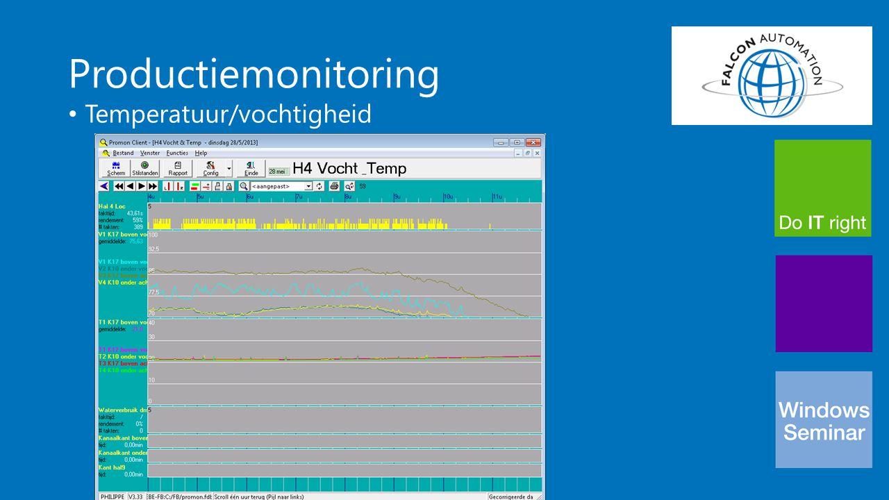 Productiemonitoring Temperatuur/vochtigheid