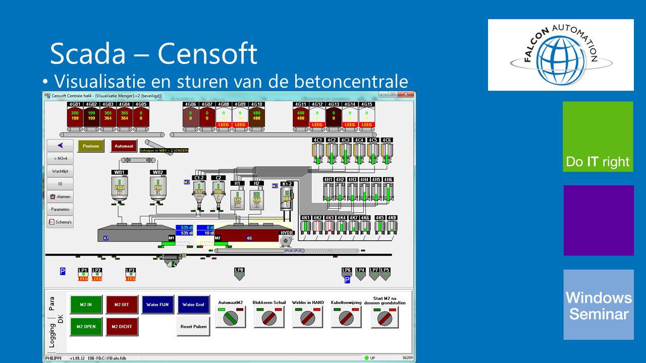 Scada – Censoft Visualisatie en sturen van de betoncentrale