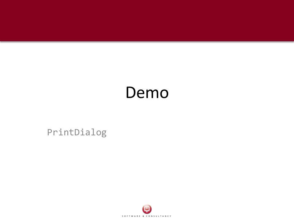 Demo PrintDialog