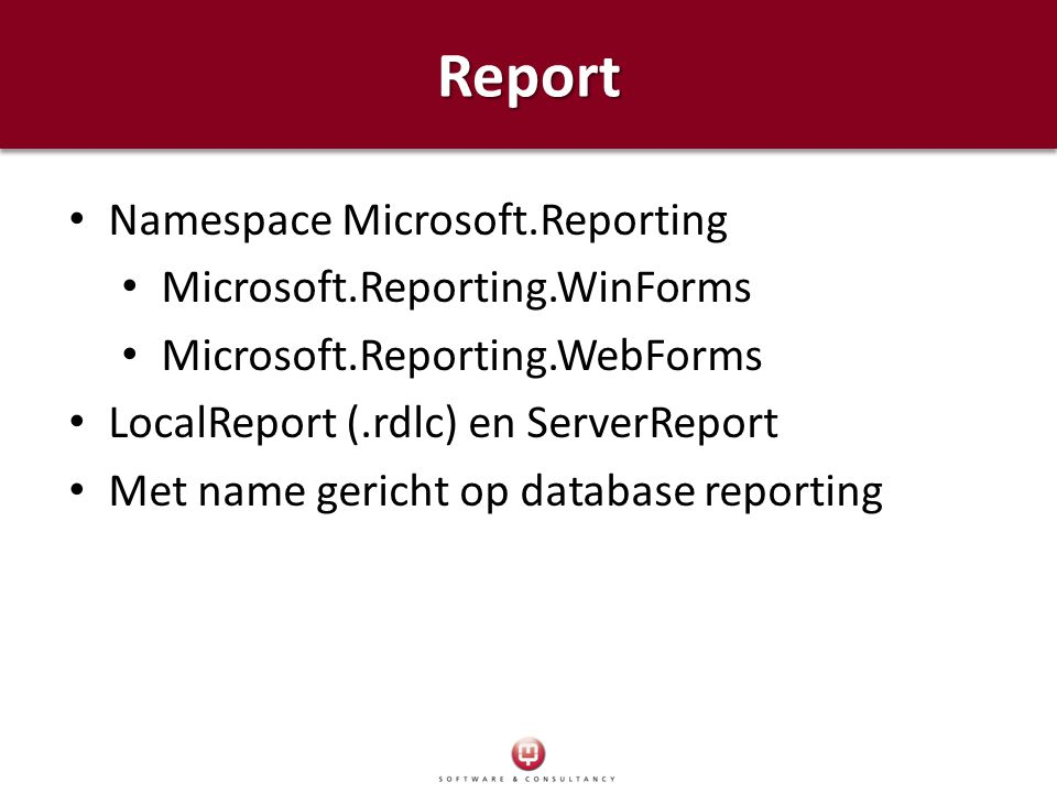 Report Namespace Microsoft.Reporting Microsoft.Reporting.WinForms