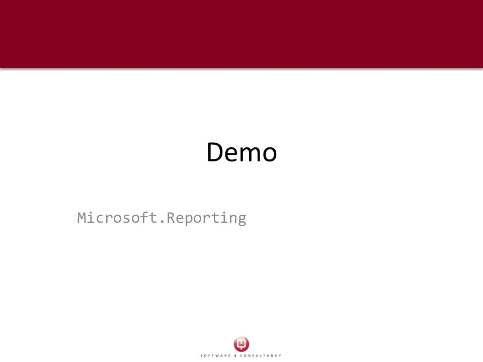 Demo Microsoft.Reporting