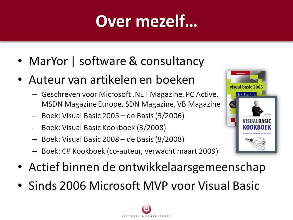 Over mezelf… MarYor | software & consultancy