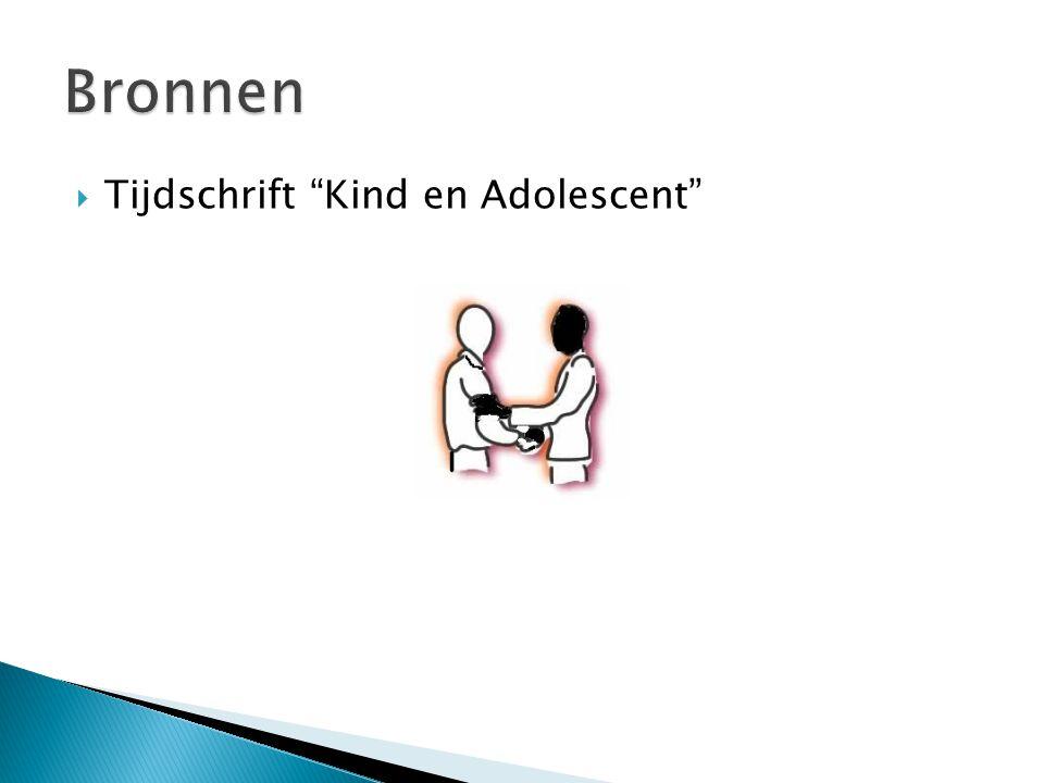Bronnen Tijdschrift Kind en Adolescent