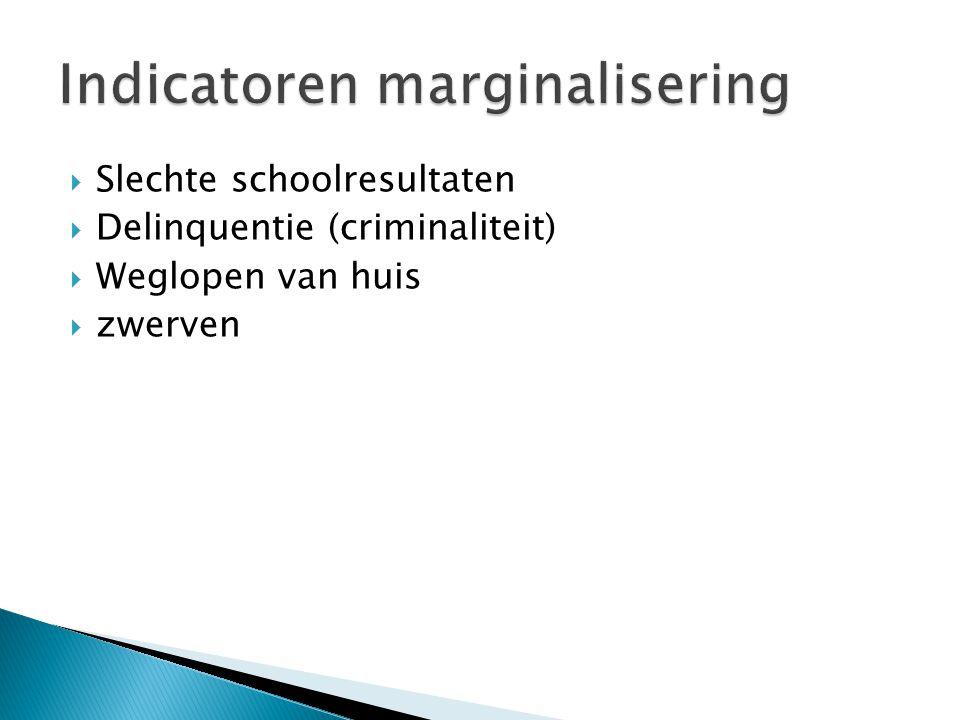 Indicatoren marginalisering
