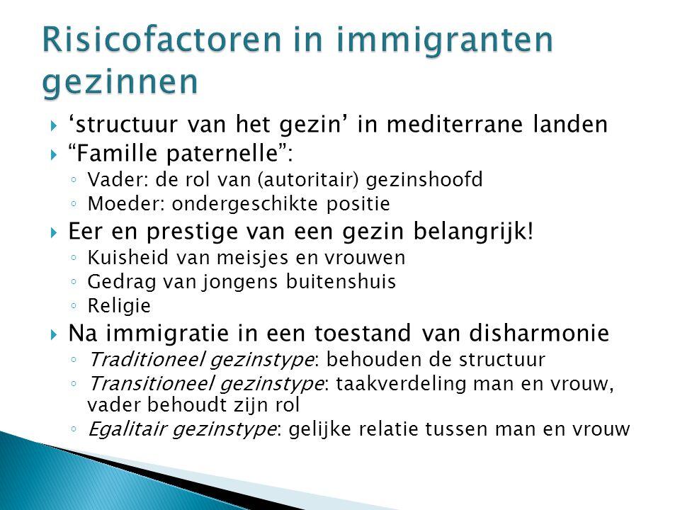 Risicofactoren in immigranten gezinnen