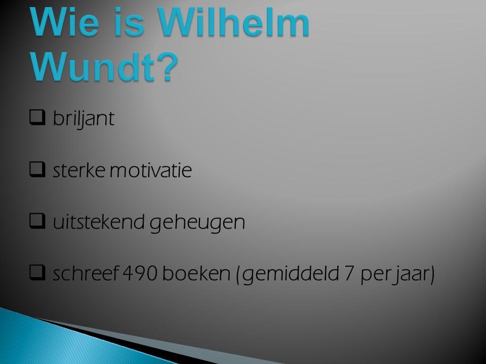 Wie is Wilhelm Wundt briljant sterke motivatie uitstekend geheugen