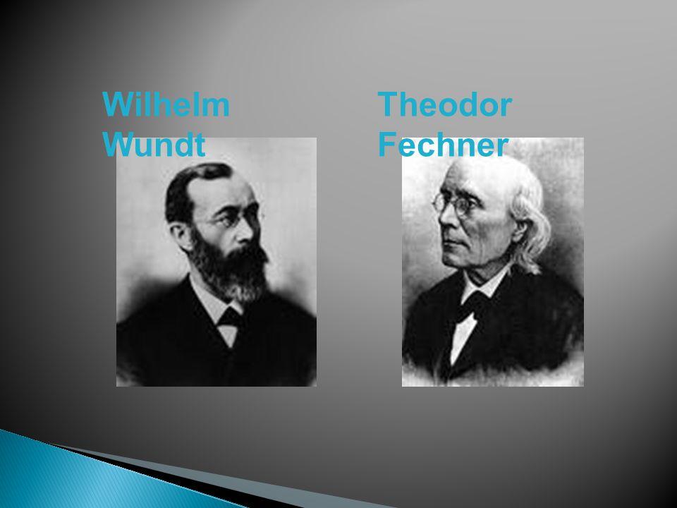 Wilhelm Wundt Theodor Fechner