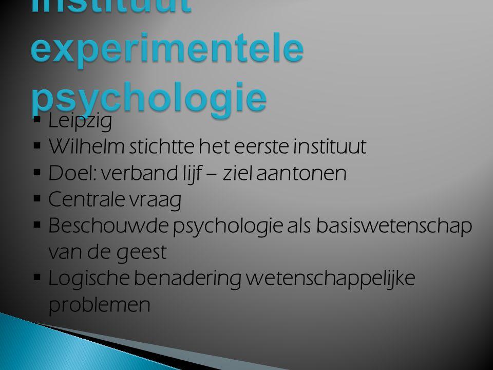 Instituut experimentele psychologie