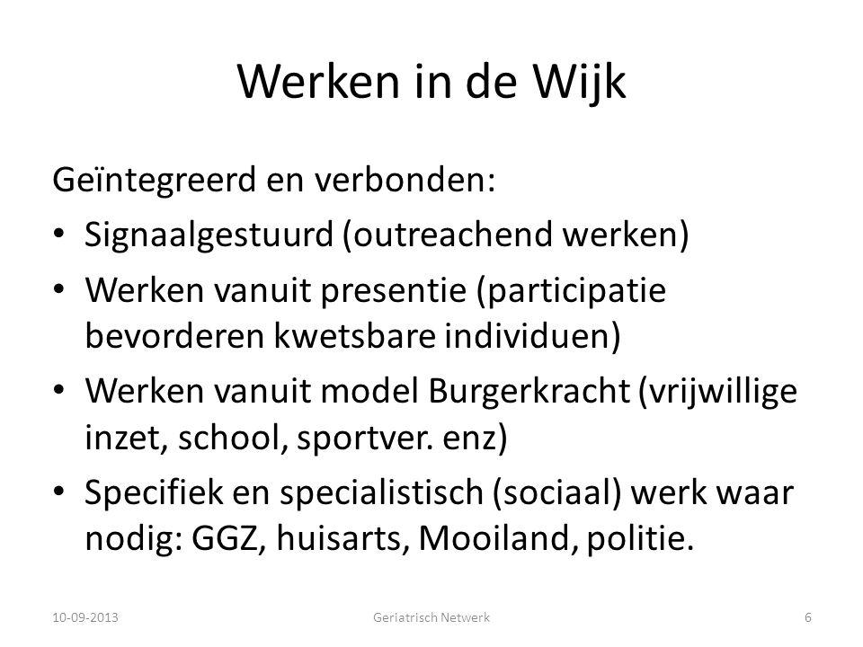Werken in de Wijk Geïntegreerd en verbonden: