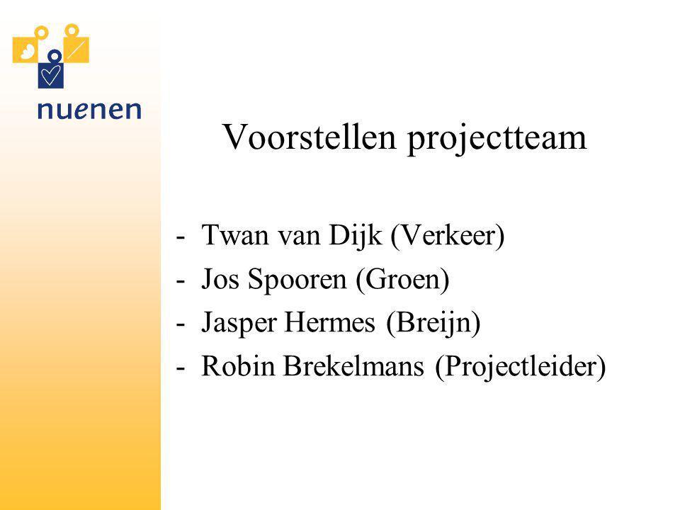 Voorstellen projectteam