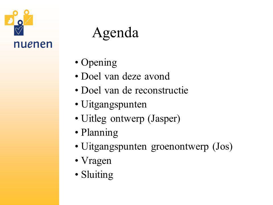 Agenda Opening Doel van deze avond Doel van de reconstructie
