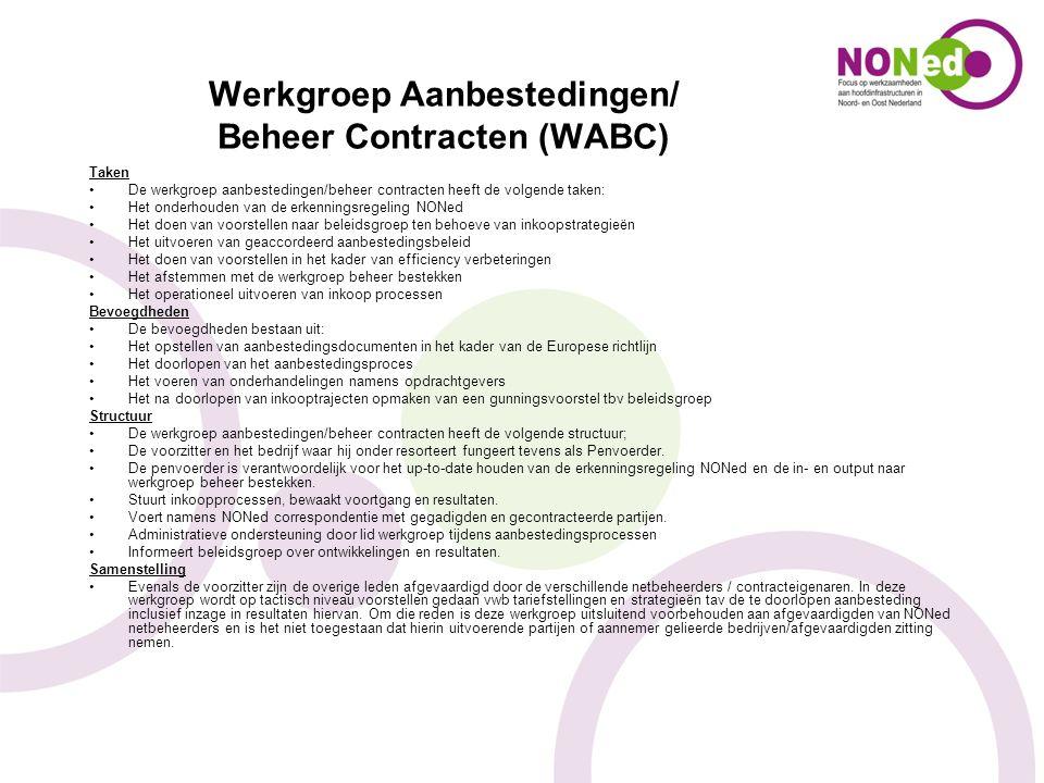 Werkgroep Aanbestedingen/ Beheer Contracten (WABC)
