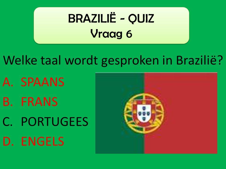 Welke taal wordt gesproken in Brazilië