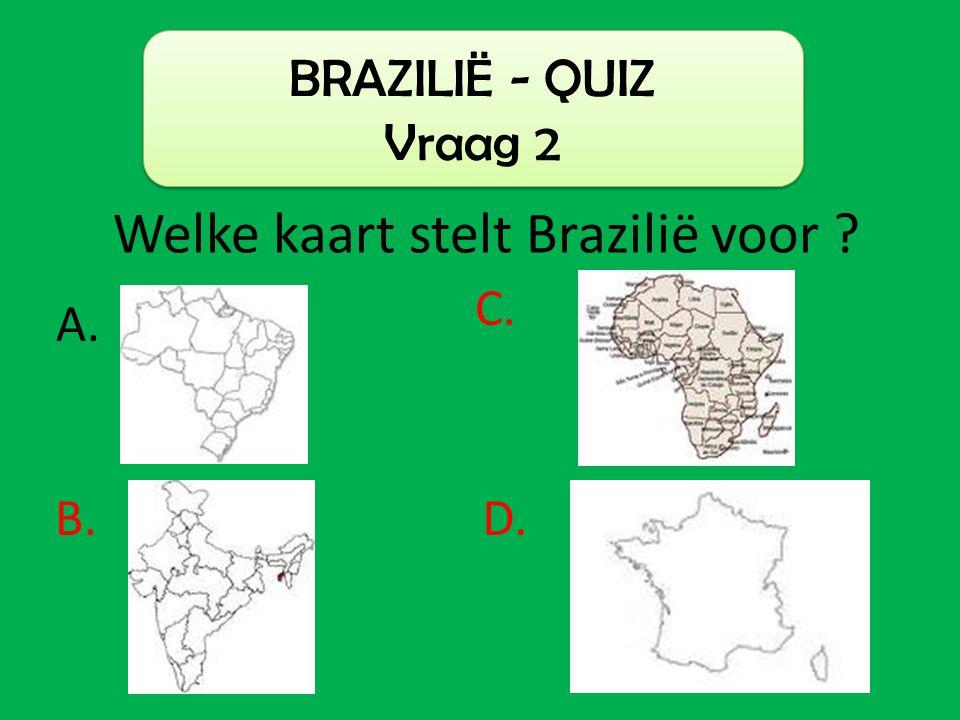 Welke kaart stelt Brazilië voor