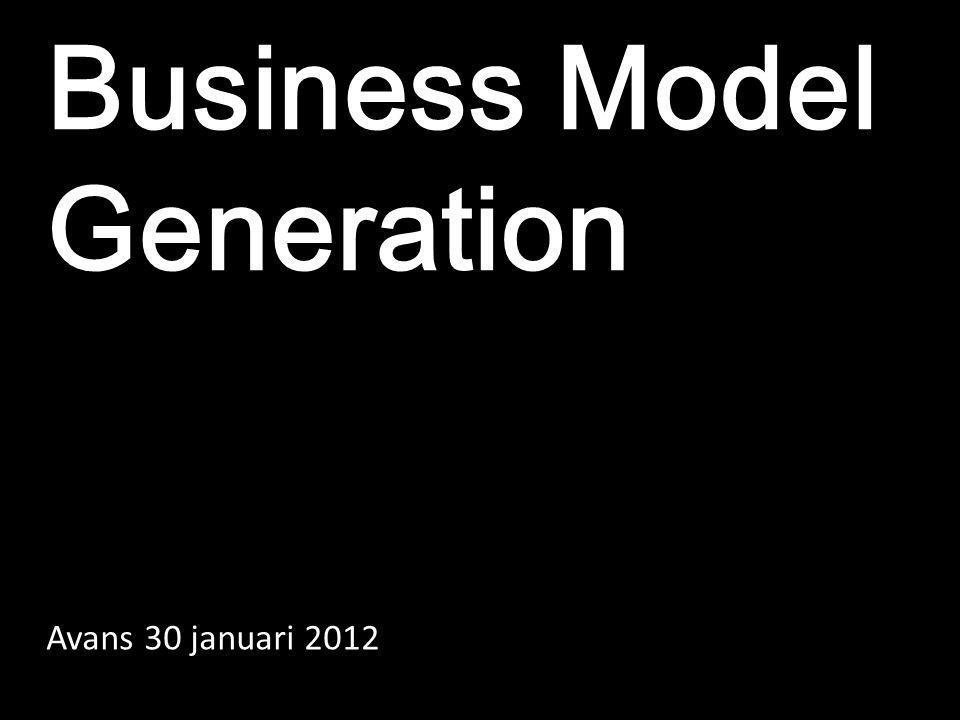 Business Model Generation Avans 30 januari 2012