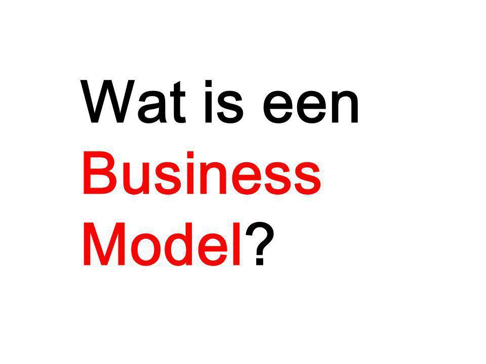 Wat is een Business Model