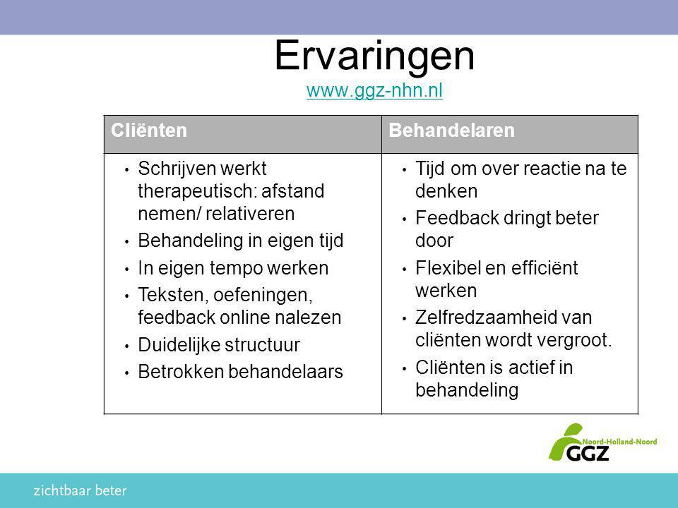 Ervaringen www.ggz-nhn.nl