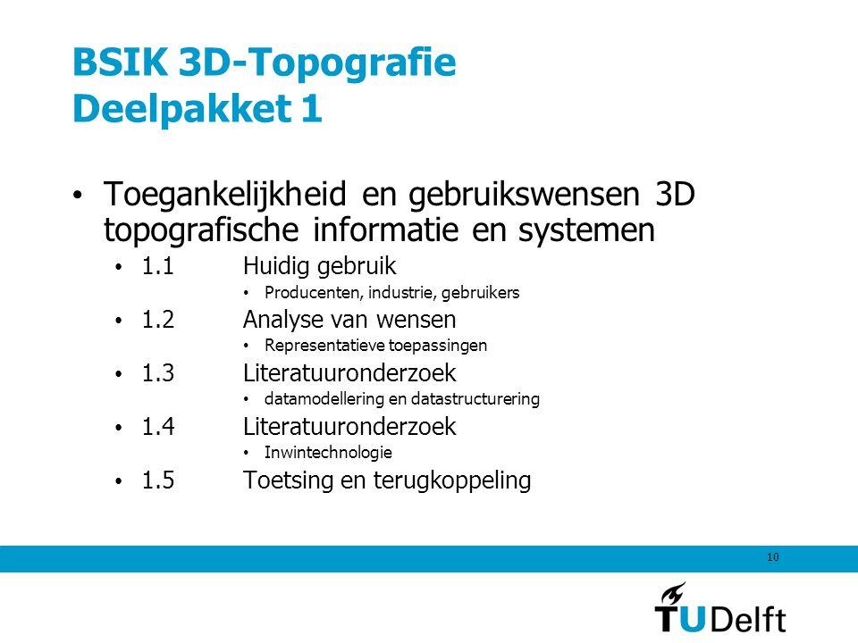 BSIK 3D-Topografie Deelpakket 1