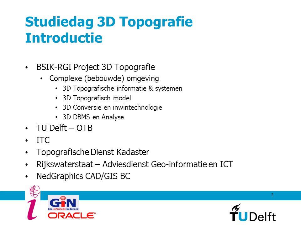 Studiedag 3D Topografie Introductie