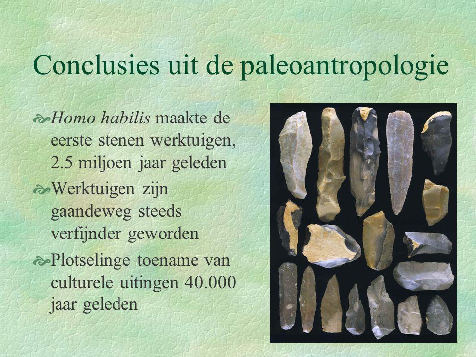 Conclusies uit de paleoantropologie