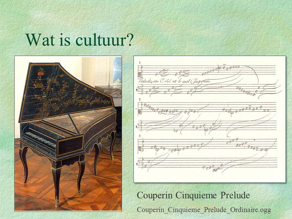 Wat is cultuur Couperin Cinquieme Prelude