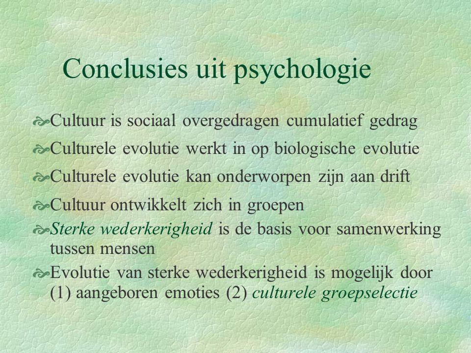 Conclusies uit psychologie