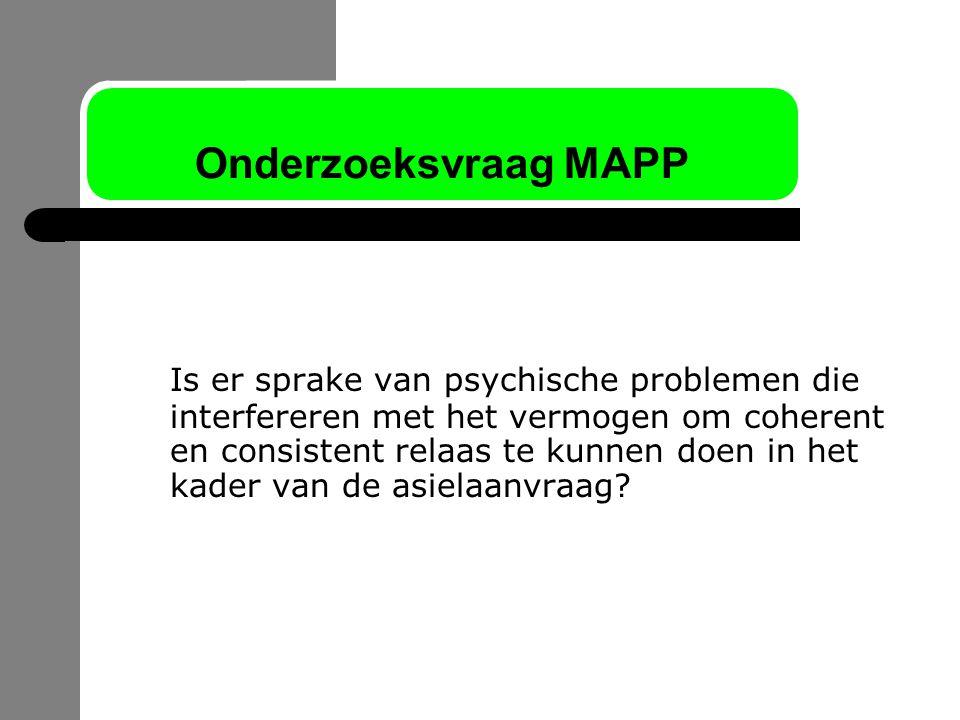 Onderzoeksvraag MAPP