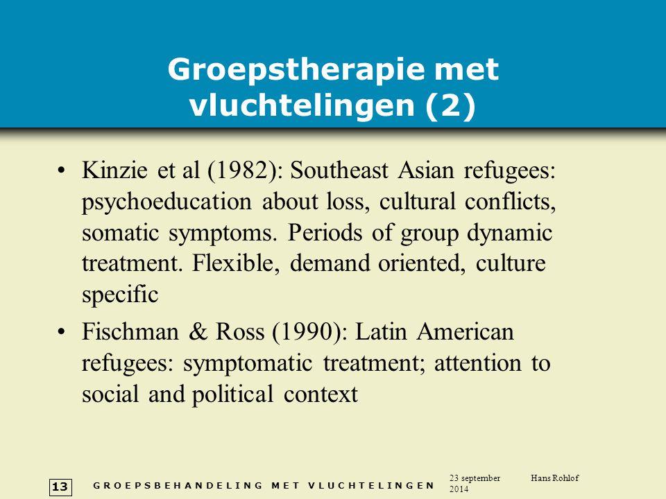 Groepstherapie met vluchtelingen (2)