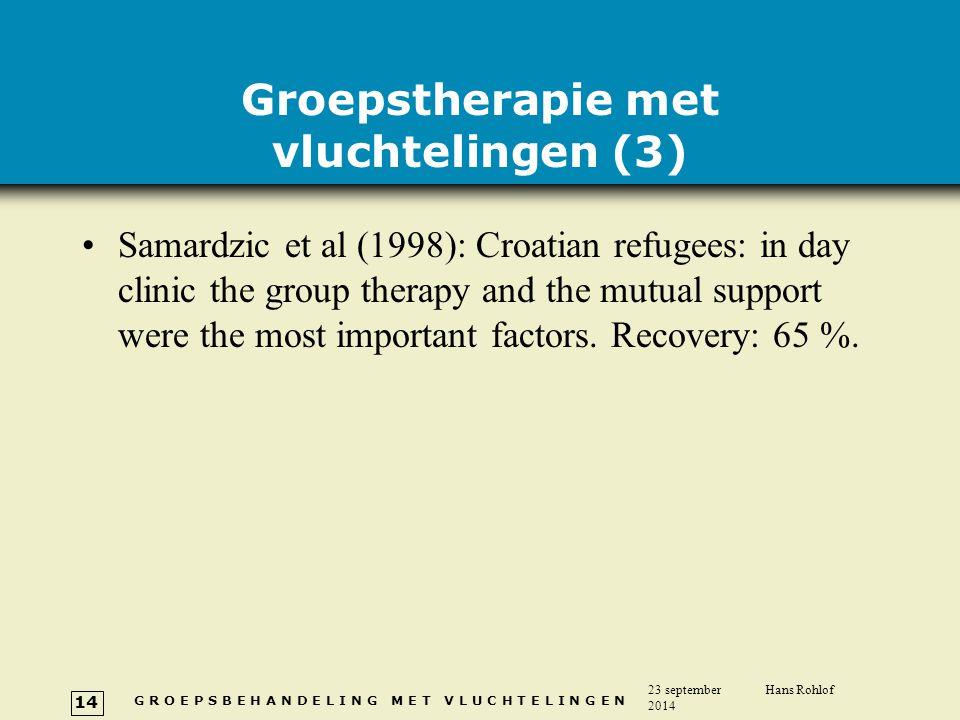 Groepstherapie met vluchtelingen (3)