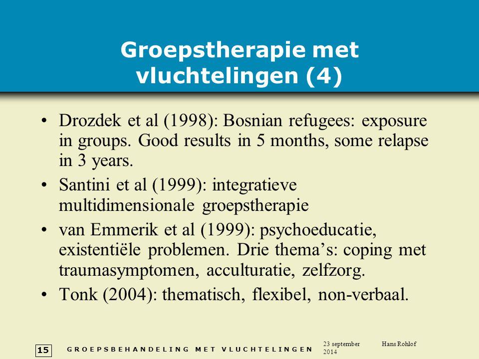 Groepstherapie met vluchtelingen (4)