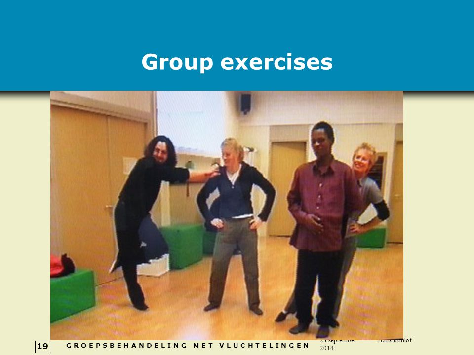 Group exercises 5 april 2017 Hans Rohlof