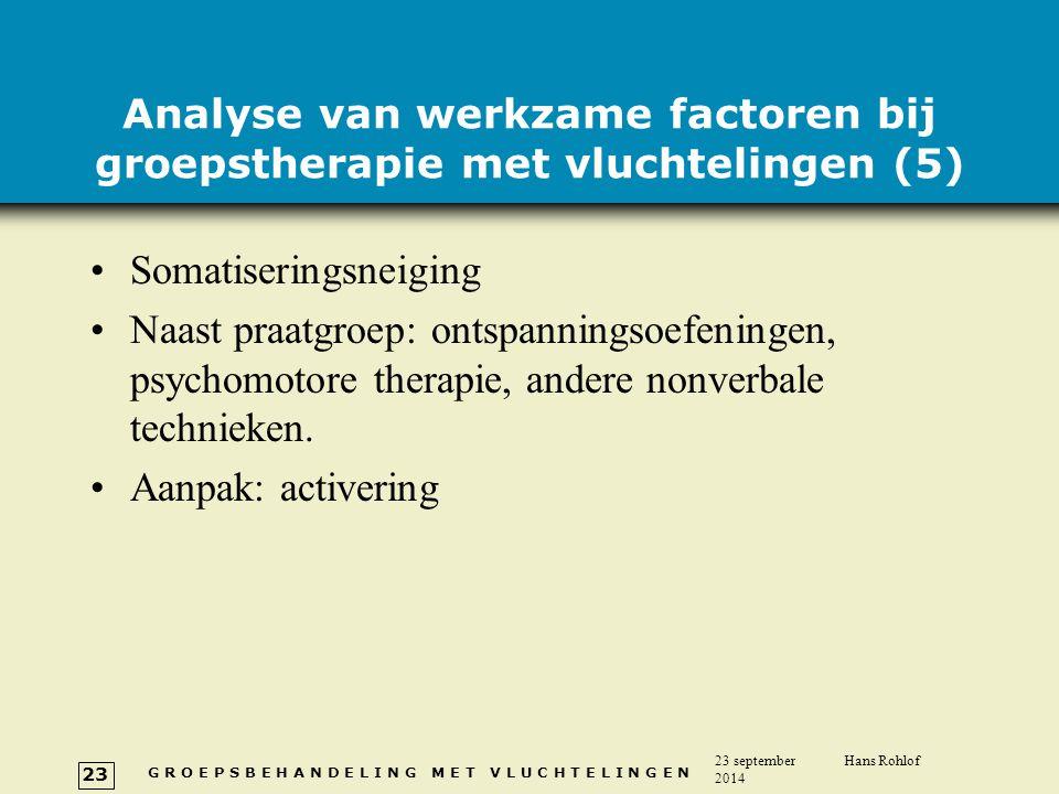 Analyse van werkzame factoren bij groepstherapie met vluchtelingen (5)