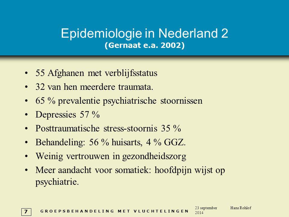 Epidemiologie in Nederland 2 (Gernaat e.a. 2002)
