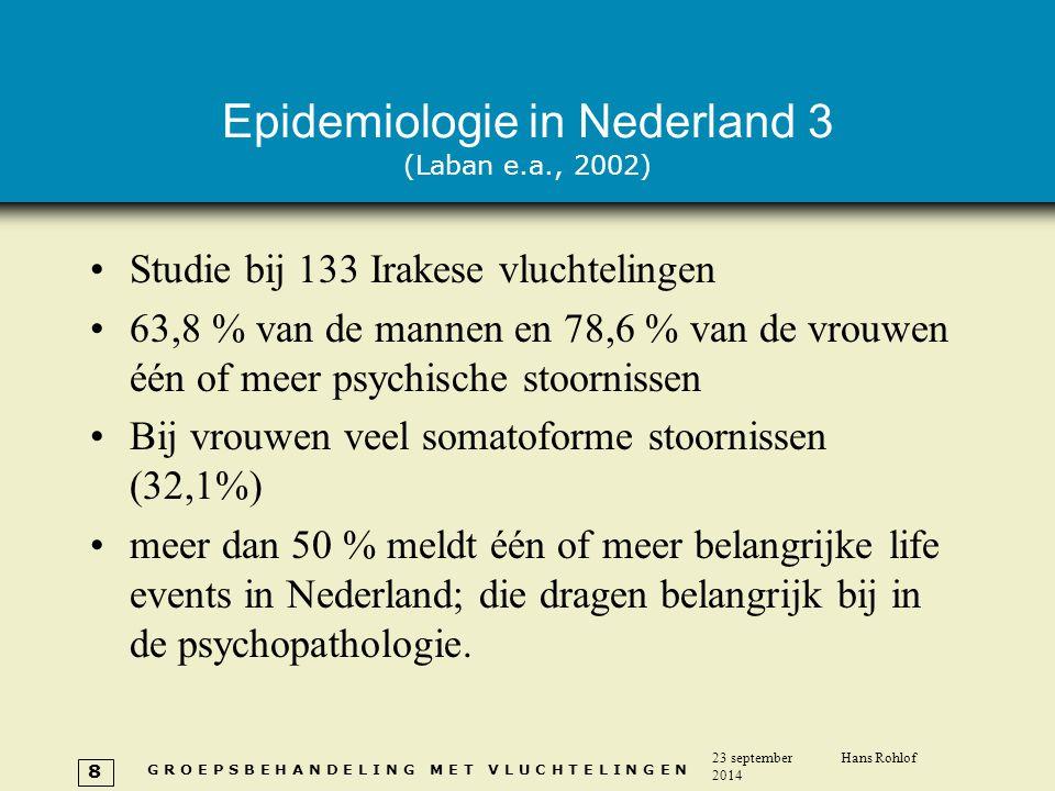 Epidemiologie in Nederland 3 (Laban e.a., 2002)