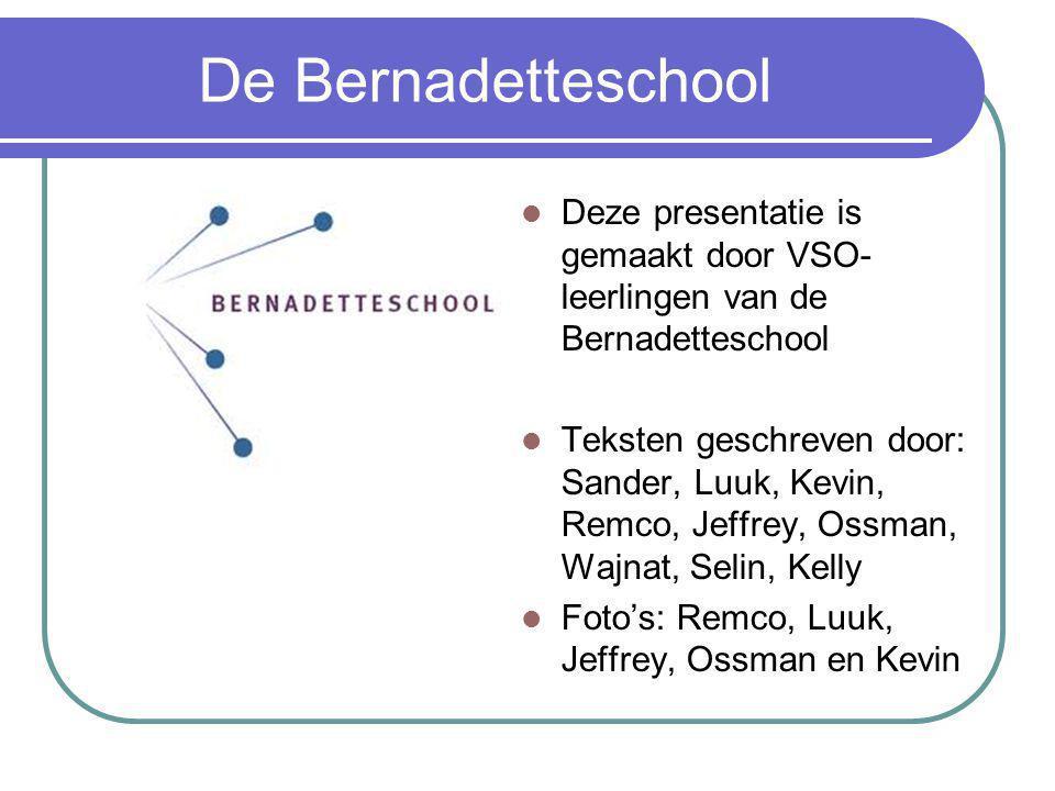 De Bernadetteschool Deze presentatie is gemaakt door VSO-leerlingen van de Bernadetteschool.