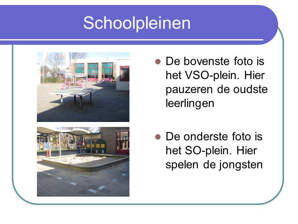 Schoolpleinen De bovenste foto is het VSO-plein. Hier pauzeren de oudste leerlingen.