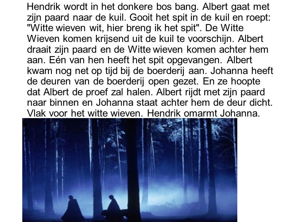Hendrik wordt in het donkere bos bang
