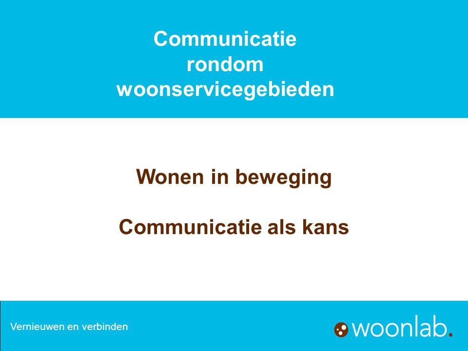 Communicatie rondom woonservicegebieden