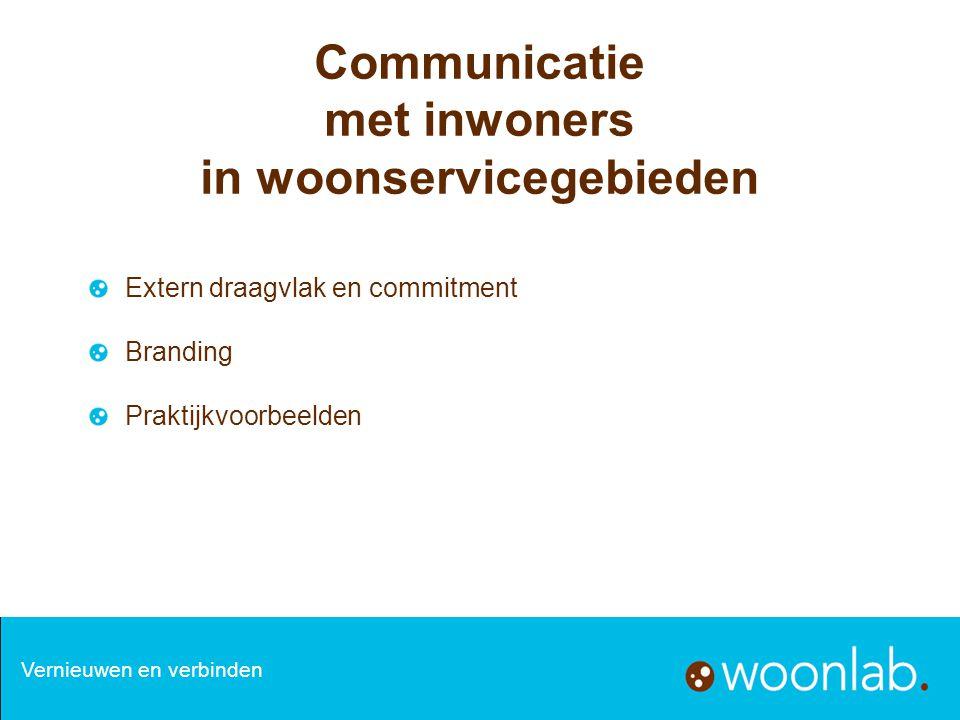 Communicatie met inwoners in woonservicegebieden