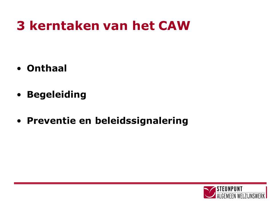 3 kerntaken van het CAW Onthaal Begeleiding