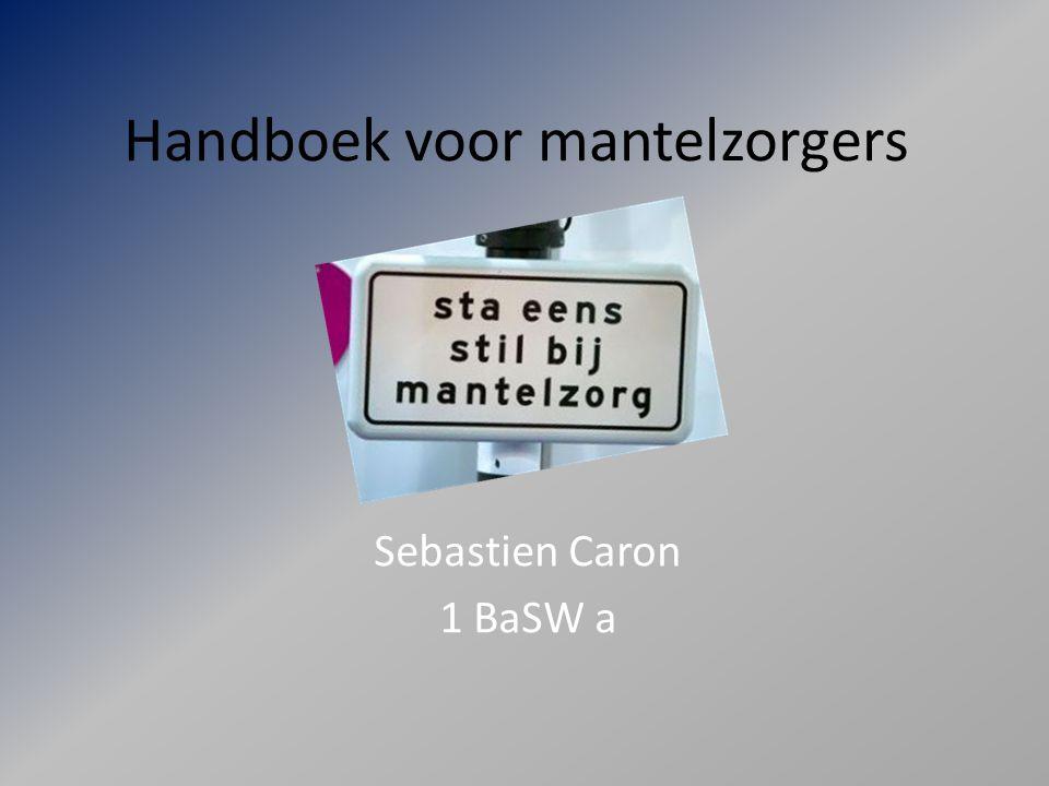 Handboek voor mantelzorgers