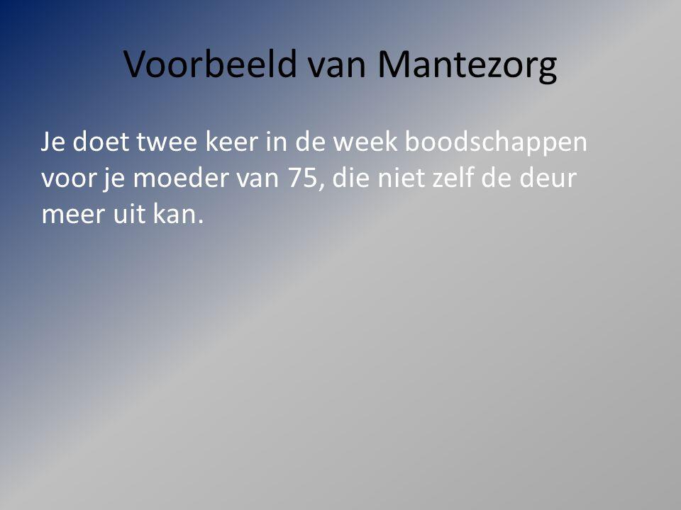 Voorbeeld van Mantezorg
