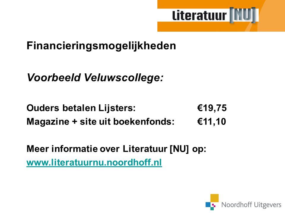 Financieringsmogelijkheden Voorbeeld Veluwscollege: