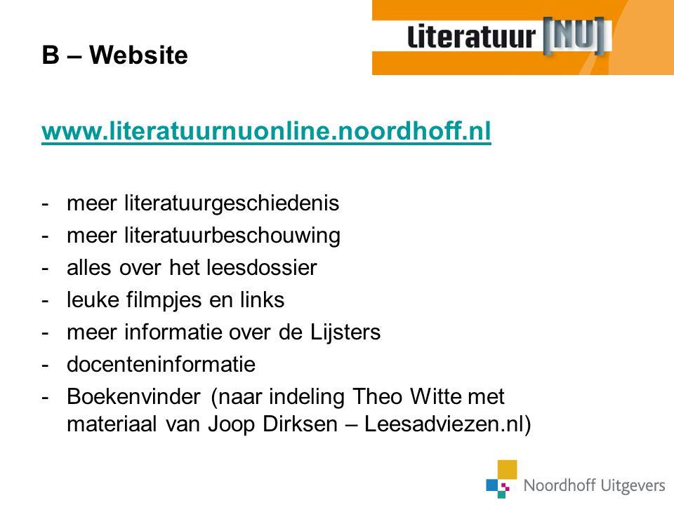 B – Website www.literatuurnuonline.noordhoff.nl