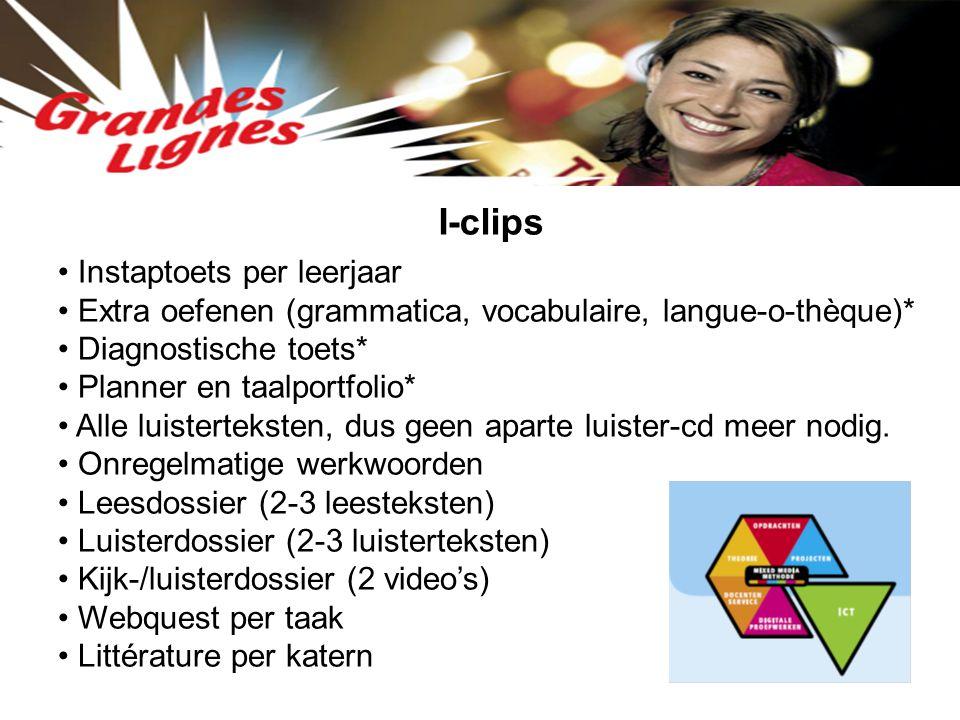 I-clips Instaptoets per leerjaar
