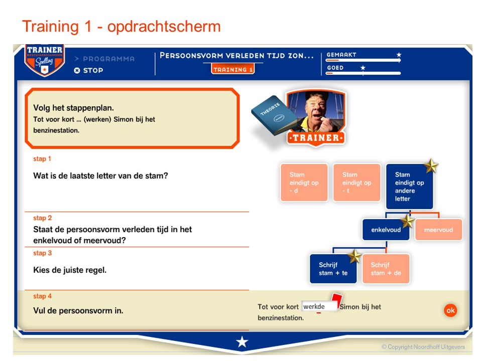 Training 1 - opdrachtscherm