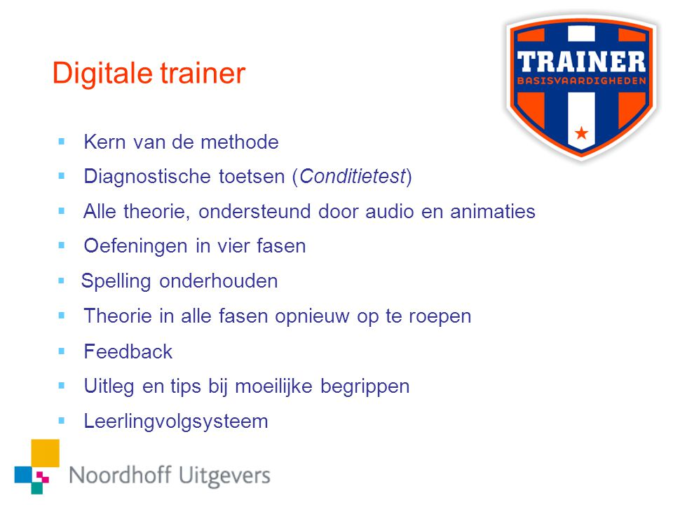 Digitale trainer Kern van de methode