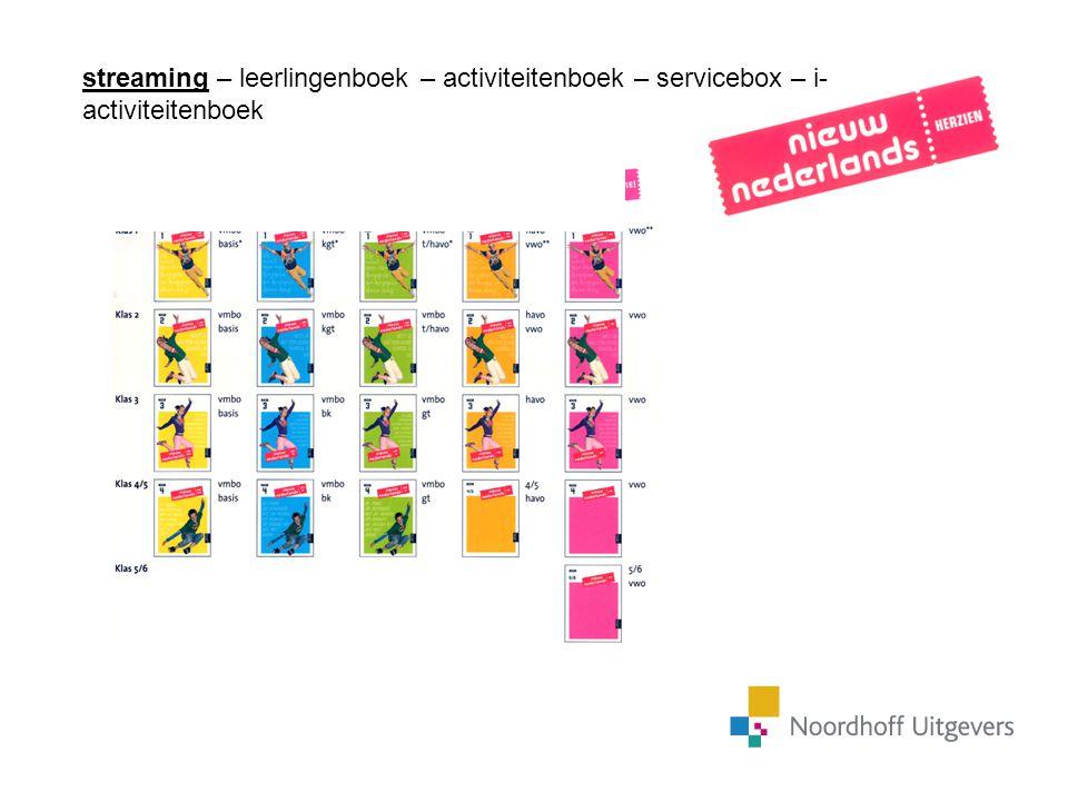 streaming – leerlingenboek – activiteitenboek – servicebox – i-activiteitenboek