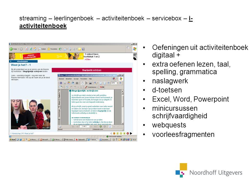 Oefeningen uit activiteitenboek digitaal +
