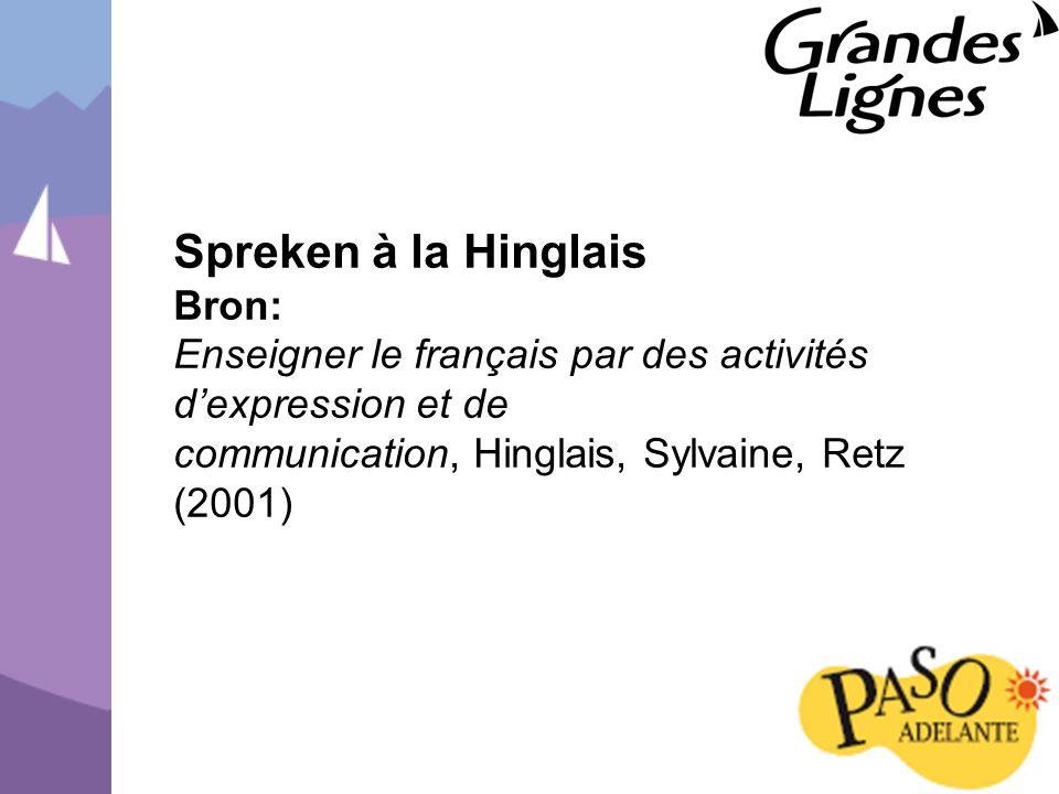 Spreken à la Hinglais Bron: